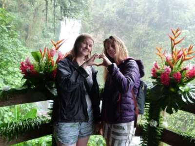 Jess and Charlotte on Cost Rica Trip